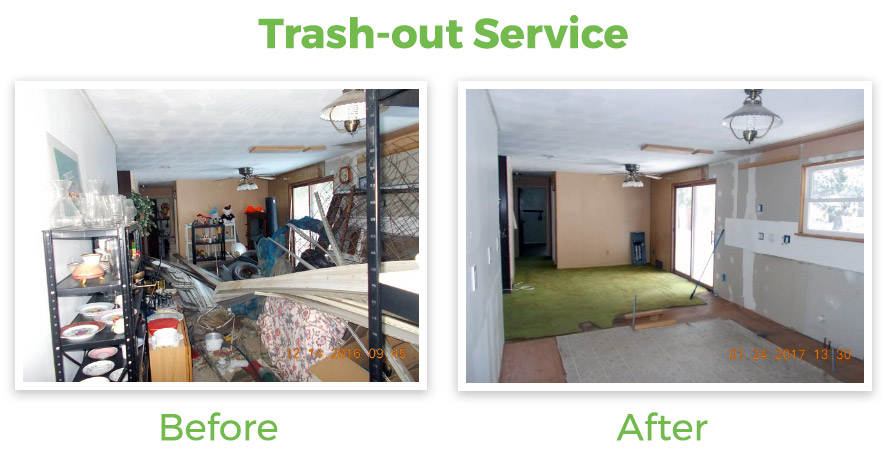 Trash-out service in REO property